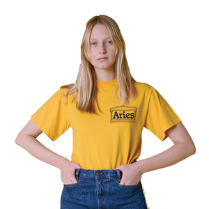 Classic Temple SS T-shirt Yellow