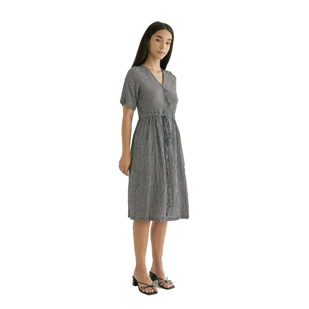 Load image into Gallery viewer, Nori Dress Blue Checkered