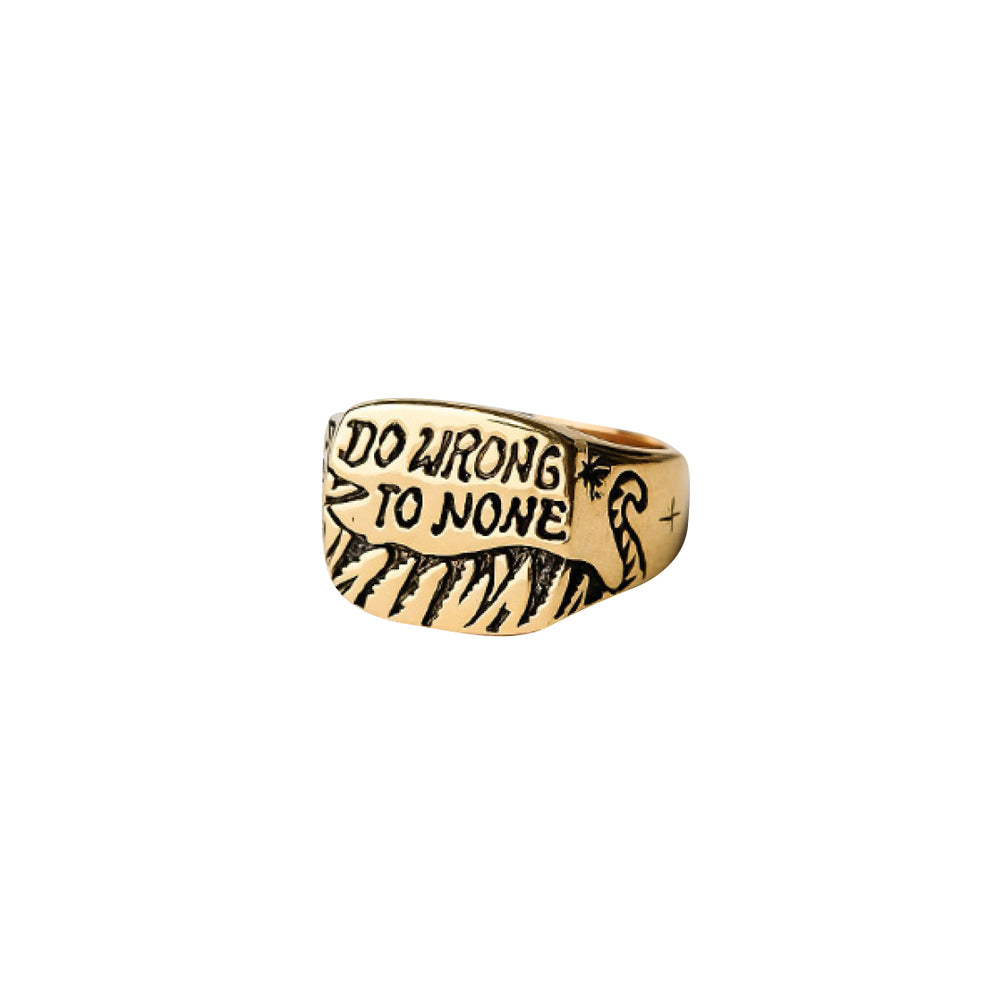 Be Kind Signet Ring Gold
