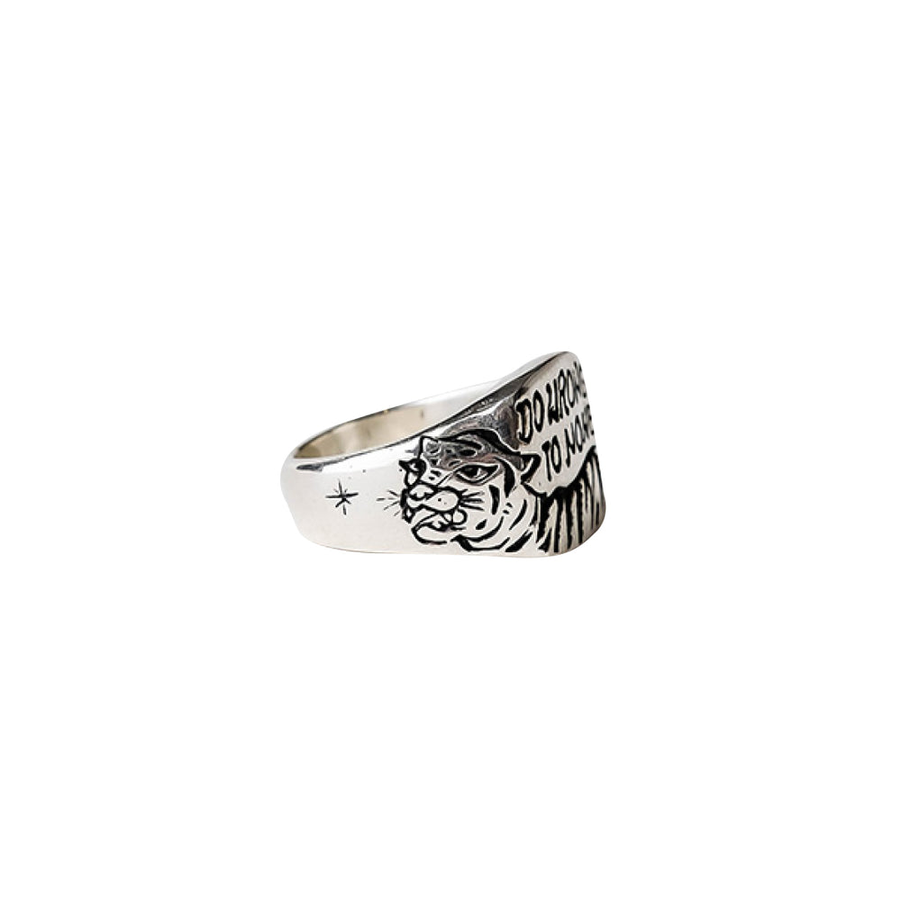Be Kind Signet Ring Silver