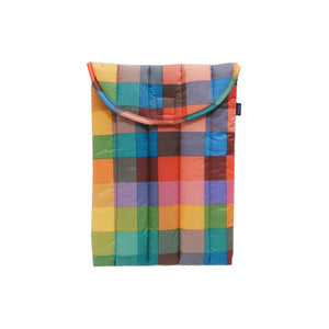 "Load image into Gallery viewer, Puffy Laptop Sleeve 13"" Madras 1"