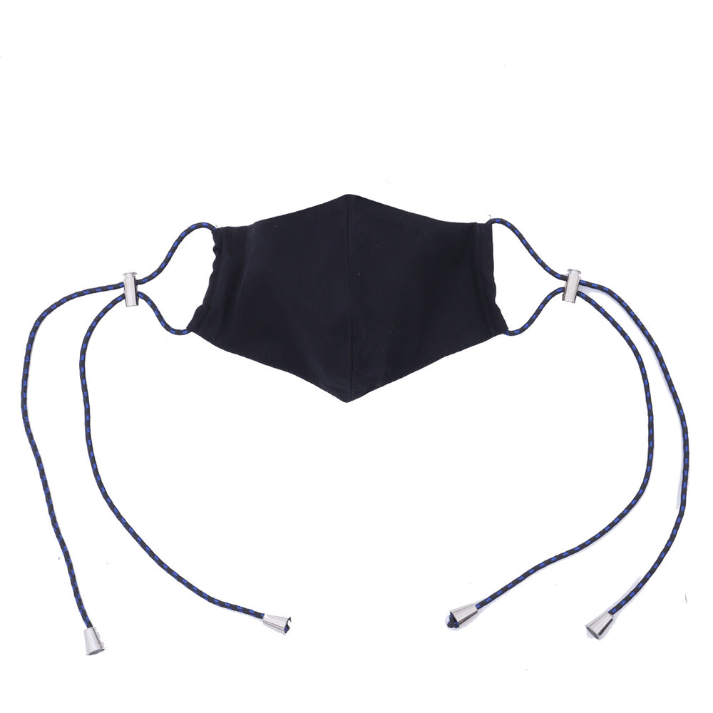 Aiueo Black Mask Ear Loop 1 Black