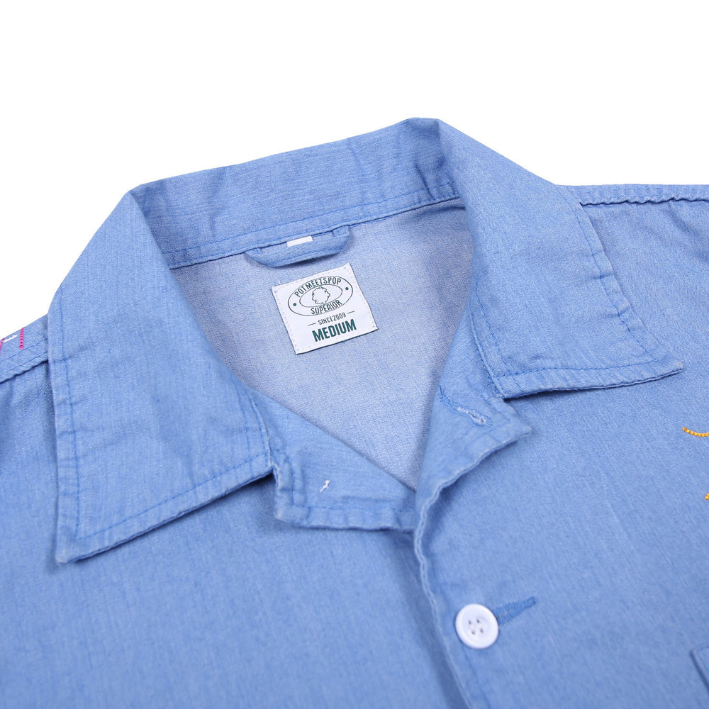 Champ Camp Denim Shirt Selvage Blue