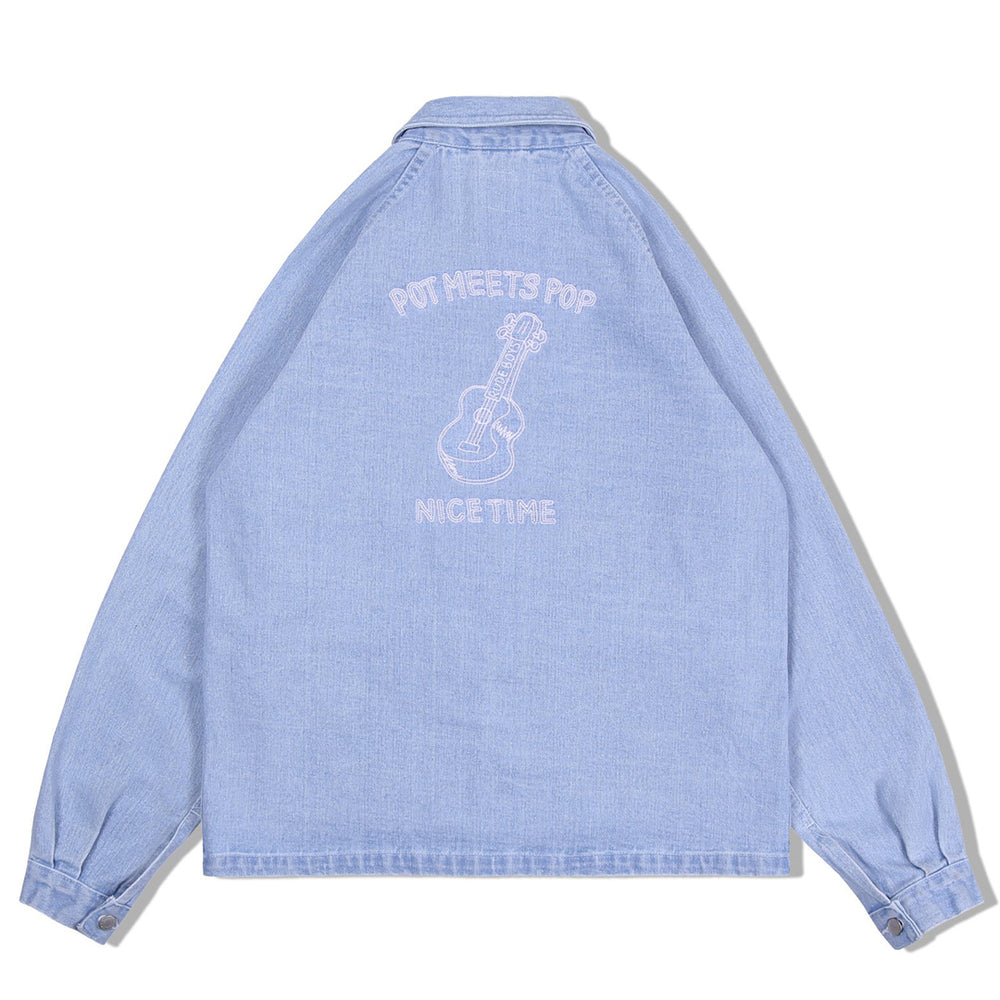 Crutch Chore Coat Washed Denim