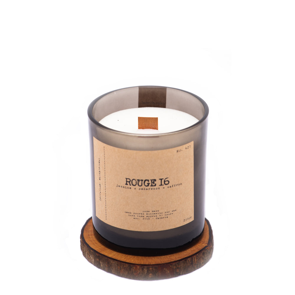 Wood Wick Candle Rouge 16