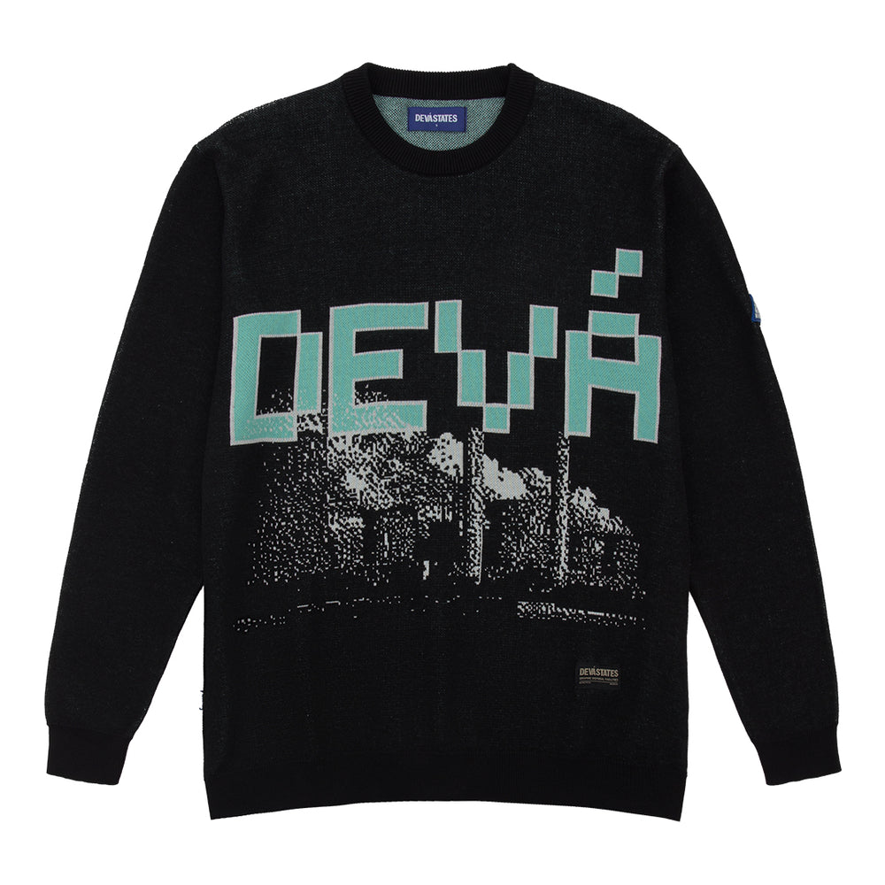 Disposal Knitted Sweater Black