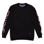 Hole Knitted Sweater Black
