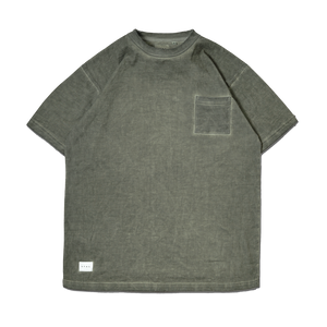 Hue SS Pocket Tee Pigment Dyed Olive