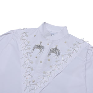 Load image into Gallery viewer, Twin Star Beaded Shirt White