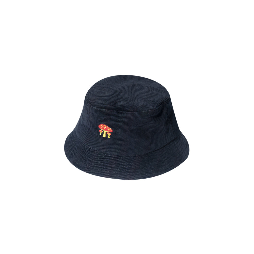 Load image into Gallery viewer, Mushroom Bucket Hat Black
