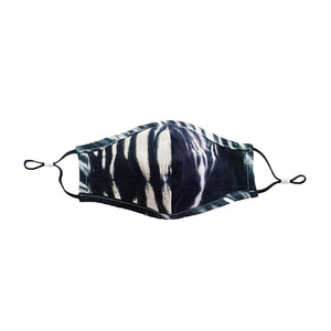 Load image into Gallery viewer, Zebra Tie Dye Mask Black