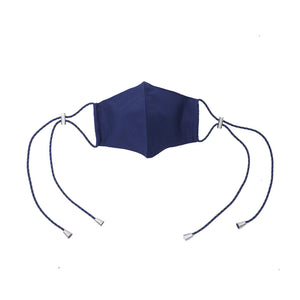 Load image into Gallery viewer, Aiueo Navy Mask Ear Loop 3 Navy