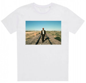 Load image into Gallery viewer, Paris, Texas Harry Dean Tshirt White