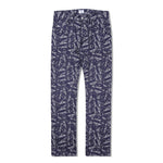 Pipes Jacquard Denim Pants Indigo