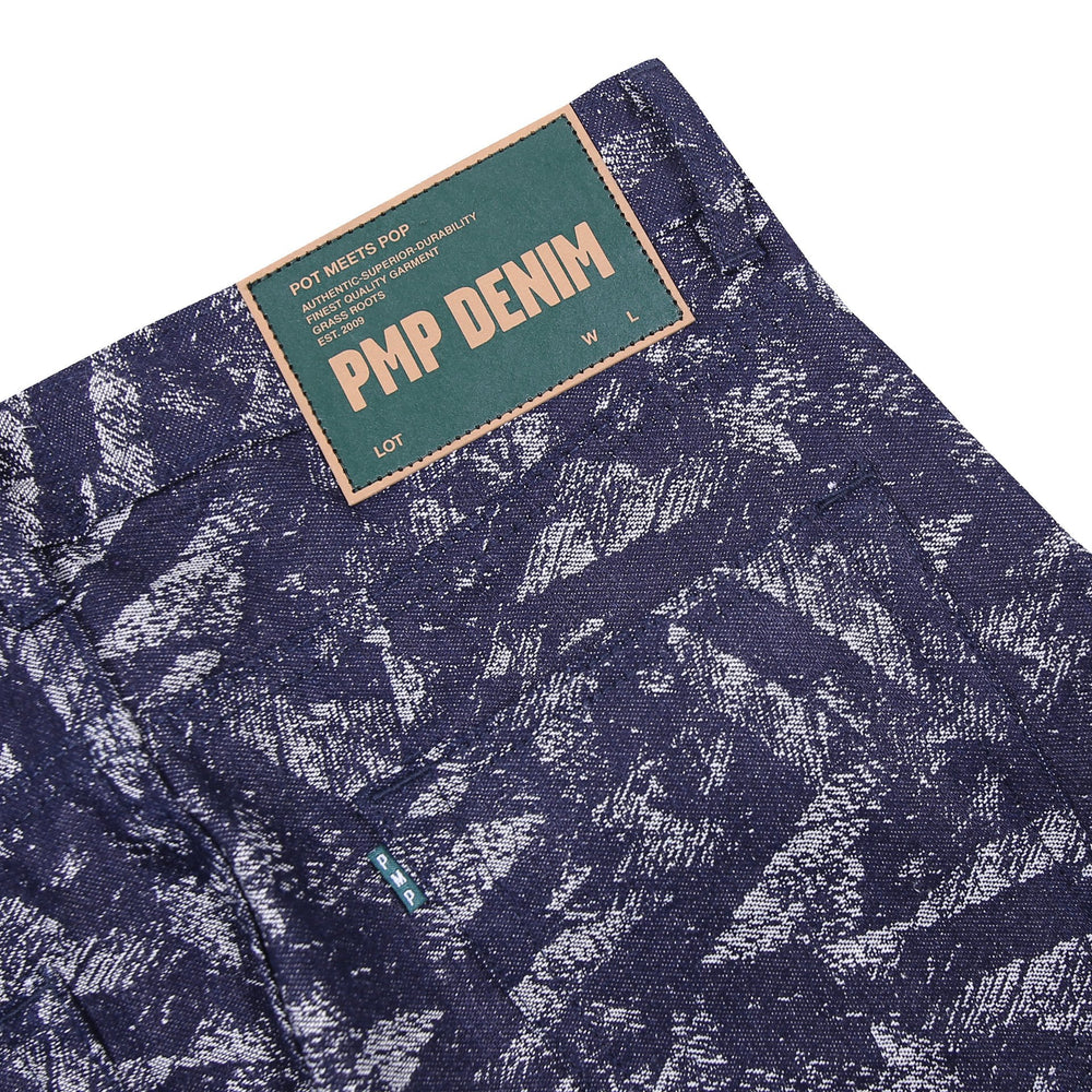 Load image into Gallery viewer, Pipes Jacquard Denim Pants Indigo