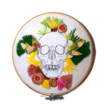 An Happy Skull Embroidery