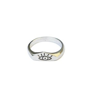Load image into Gallery viewer, Thick Sght Ring Silver