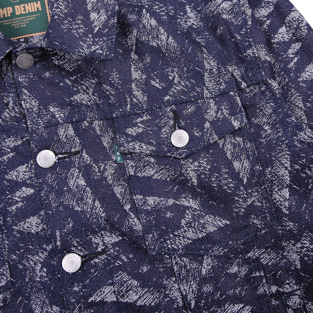 Skunk Jacquard Denim Jacket Indigo