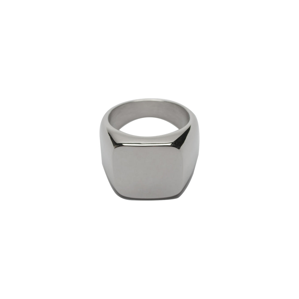 Rounded Edge Silver Ring