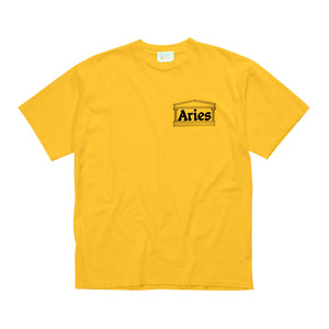 Load image into Gallery viewer, Classic Temple SS T-shirt Yellow