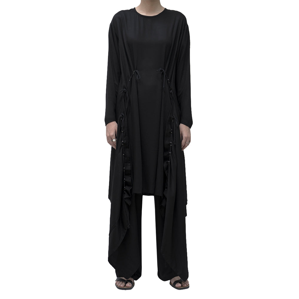 Holly Dress Rayon Twill Black