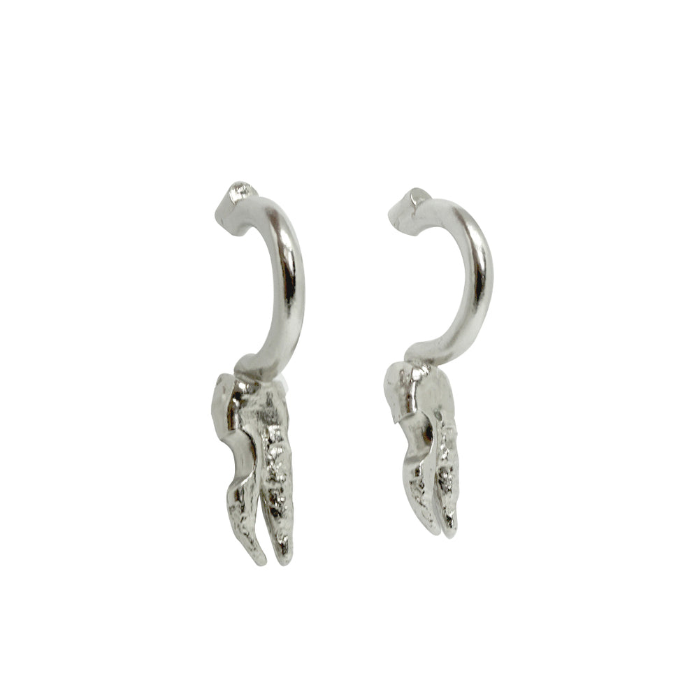 Anomali 33 Hook Earrings Silver