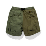 Cropped Mixmatched Cargo Pants Olive