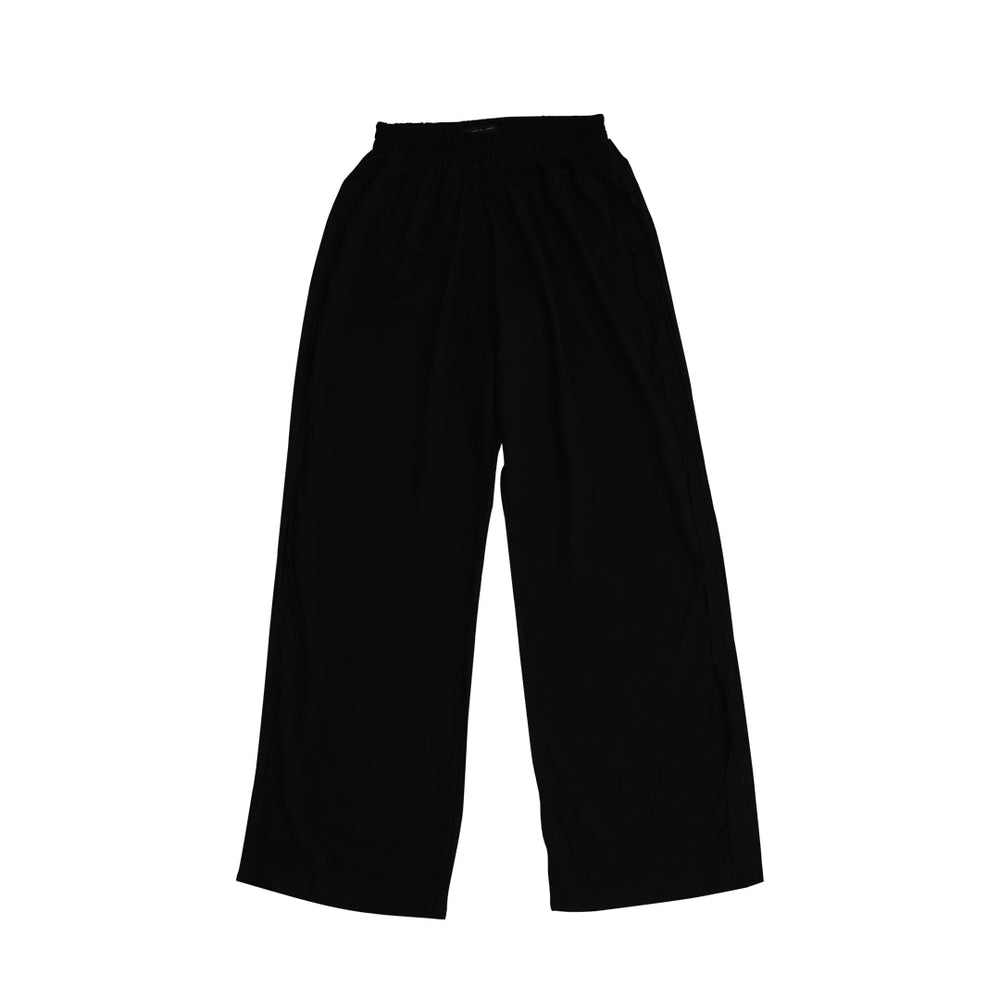 Unfinished Pants Rayon Twill Black