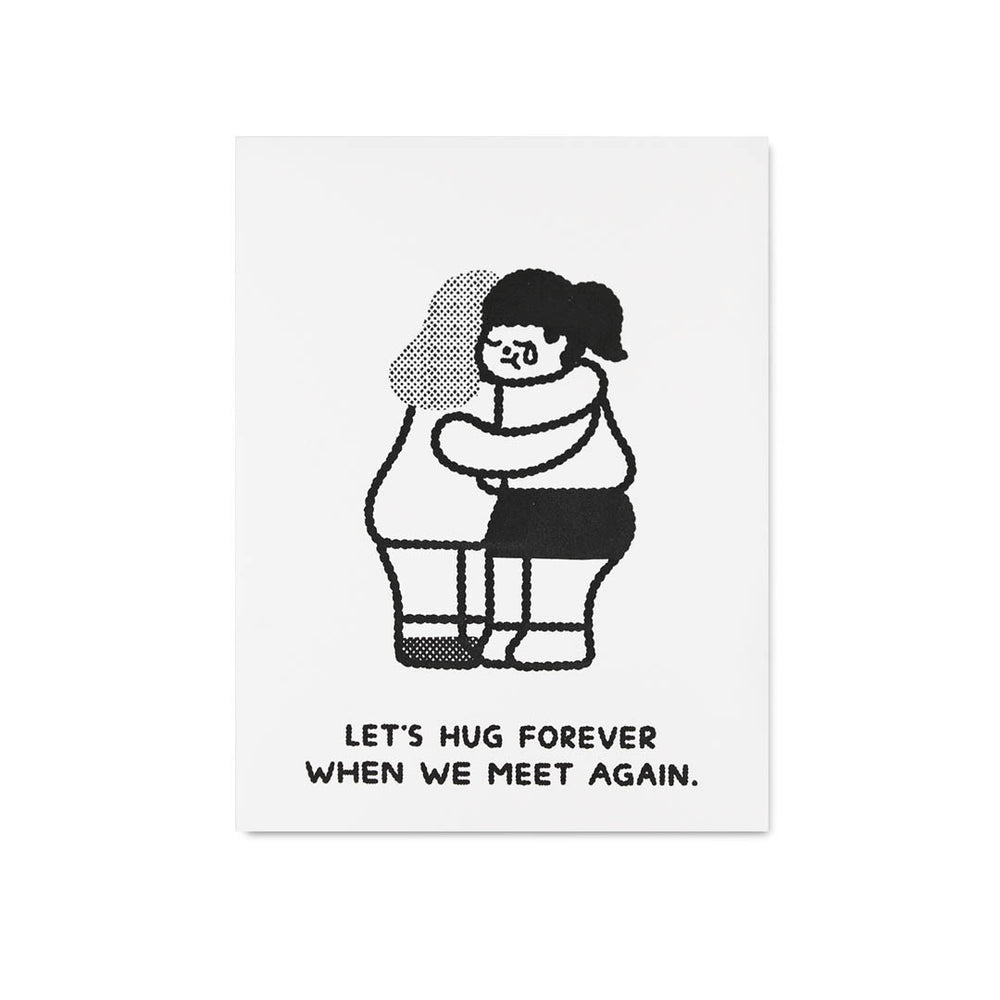 Load image into Gallery viewer, Lets Hug Forever 2 Letterpress Postcard