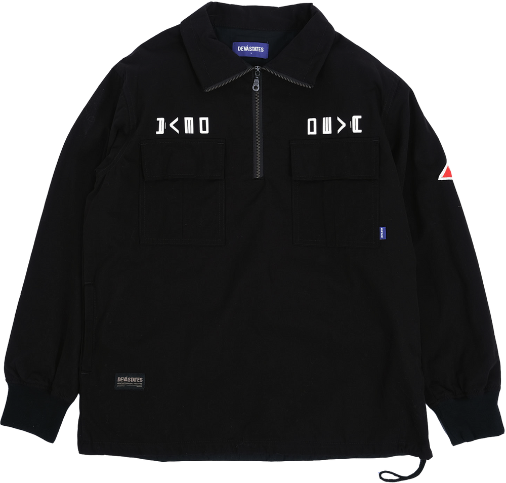 Half-Zip Anorak Jacket Black