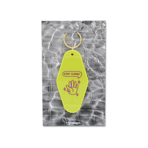 Load image into Gallery viewer, Stay Clean Motel Keychain