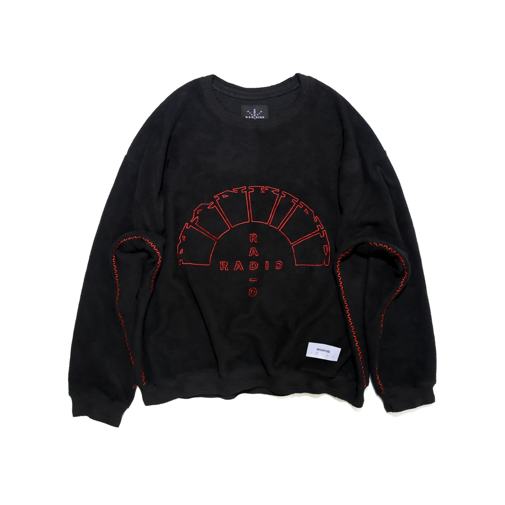 Load image into Gallery viewer, Mankind Radio Black Crewneck