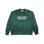 Love Love Machine Crewneck Tie Dye Green