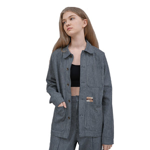Load image into Gallery viewer, Anoushka Chore Jacket Navy