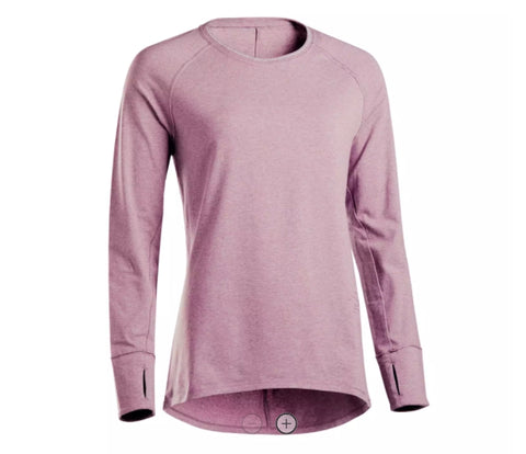WOMAN'S SOFT T-SHIRT WITH LONG SLEEVES DOMYOS