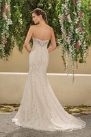 Chantilly Lace with Flat Sequins Trumpet Gown