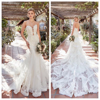 All Beaded and Lace Mermaid Gown