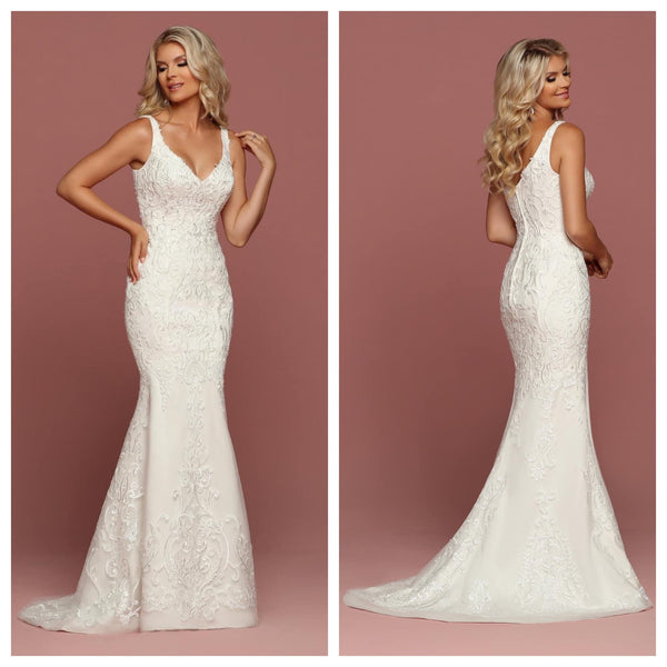 Ivory Beaded Lace A-Line