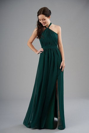 Halter Poly Chiffon Bridesmaid Dress