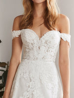 All Lace Full A-line with Off-Shoulder Straps
