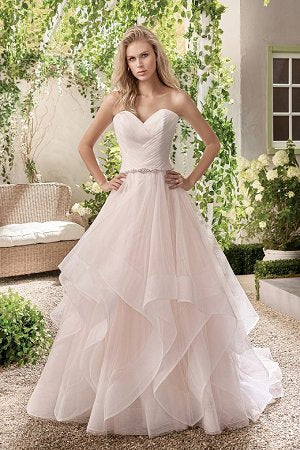 Ivory Tulle Tissue Cut Ballgown
