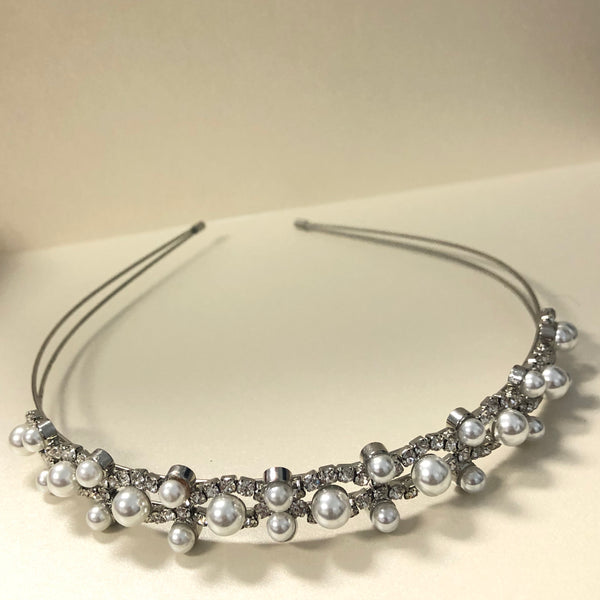 Pearl and Rhinestone Headband