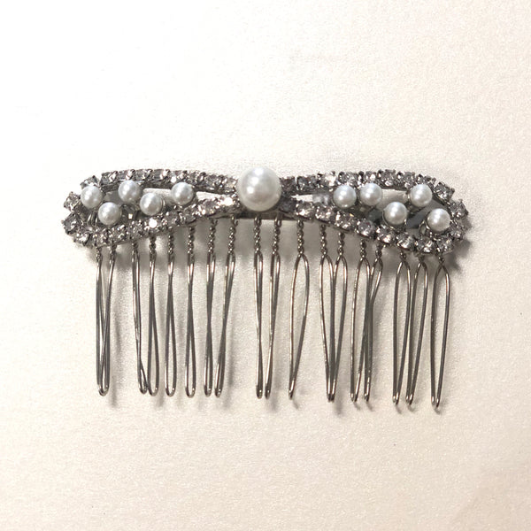 Pearl and Rhinestone Hair Piece