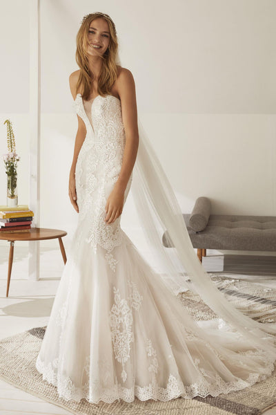 Chantilly Lace Mermaid with Beaded Detail