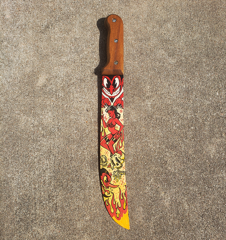 Hand Painted Devil Knife
