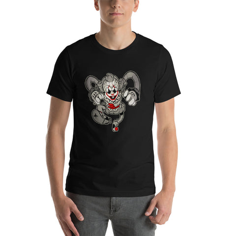 Dancing Clown of Derry - Short-Sleeve Unisex T-Shirt