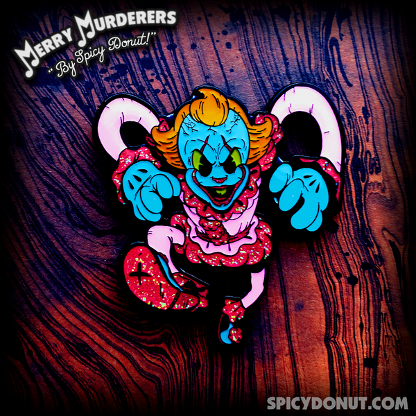 The Dancing Clown of Derry Enamel Pin