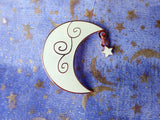 Crescent Moon Glow in the Dark Pin
