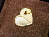 United Hearts 18K Gold Plated Satin Pendant Charm
