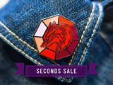 [Seconds] The Elements Fire Wolf Talisman Pin